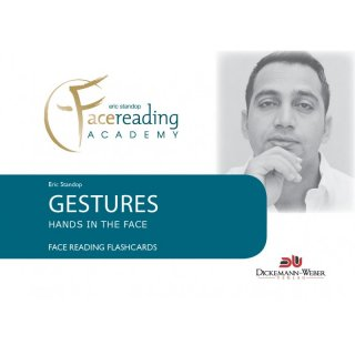 Face Reading Flashcards - Gestures - Hands in the face